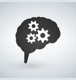 business concept of a brain with cogs or gears vector image
