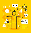 business of man with icon vector image
