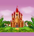 castle towers in the jungle vector image
