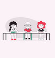 character disabled boys vector image