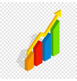 chart arrow up isometric icon vector image vector image