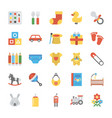 children and kids icons set vector image
