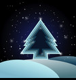 christmas tree layers abstract background vector image