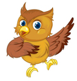 Comical owl vector image vector image