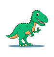 cute cartoon dinosaur - t-rex tyrannosaurus rex vector image vector image