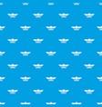 element burger pattern seamless blue vector image vector image