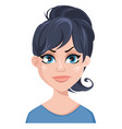 facial expression of a woman - dissatisfied vector image vector image