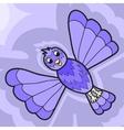 Fantastic violet bird vector image vector image