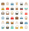 fashion bag solid icon in various style such as vector image vector image