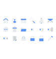 flat essential ui icon set vector image