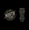 font north star craft retro vintage typeface vector image vector image