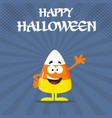 funny candy corn flat design waving vector image vector image