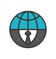 Global Business Icon vector image vector image