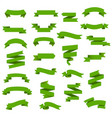 green web ribbon big set vector image vector image