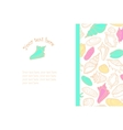 hand drawn background with cute colorful seashells vector image vector image
