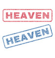 heaven textile stamps vector image vector image