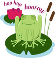 hop hop hooray vector image