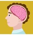 Human head in section cartoon vector image