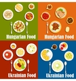 Hungarian and ukrainian national cuisine vector image vector image