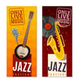jazz festival vertical banners vector image