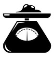 kitchen scales icon simple style vector image vector image