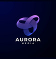 logo aurora gradient colorful style vector image vector image