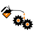 lubrication gears with an oil can vector image