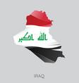 map iraq vector image
