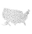 map of united states of america from polygonal vector image vector image