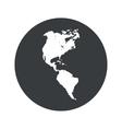 Monochrome round America icon vector image vector image