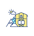 mountain chalet rgb color icon vector image vector image