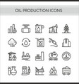 oil production set flat thin vector image vector image