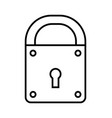 padlock flat linear icon of lock isolated on vector image vector image