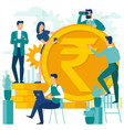 people are making money vector image vector image