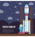 perfect start up cartoon vector image vector image