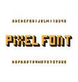 pixel font alphabet vector image vector image