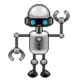 pixel small robot detailed isolated vector image vector image