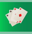 playing card deck aces gambling icons vector image