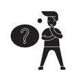 question solving black concept icon vector image vector image