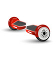 realistic red gyro-scooter isolated on the white vector image vector image