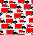 Red Trucks Seamless Pattern Bakground with Cars in vector image vector image