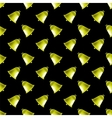 Retro Yellow School Bell Seamless Pattern vector image vector image