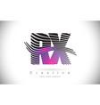 rx r x zebra texture letter logo design vector image vector image