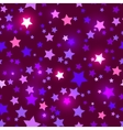 Seamless with shiny purple stars vector image