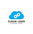 service cloud tech icon design cloud element vector image vector image