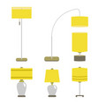 set of lamps lamp light vector image vector image