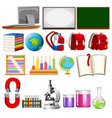 set of school learning element vector image vector image