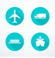 set of transportation icons vector image