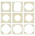 set square gold frames oriental ornaments vector image vector image