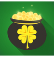 St Patrick Day gold money icon vector image